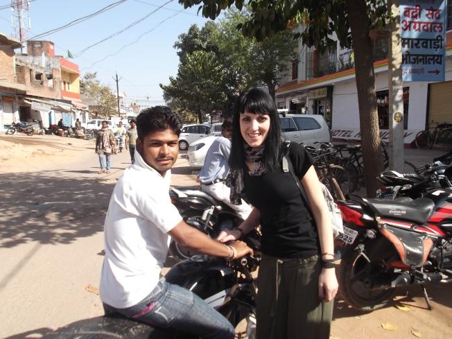 Estela y Washim en Khajuraho.