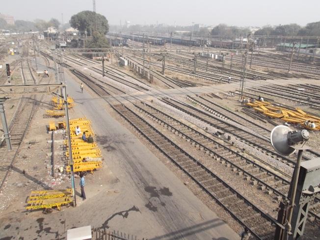 Vías Estación Nueva Delhi