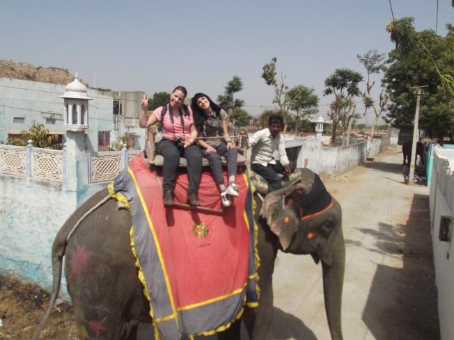 Montando en elefante - Jaipur