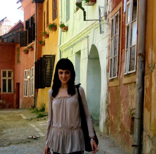 Sighisoara, dos bellezas; las casas y Estela ;)