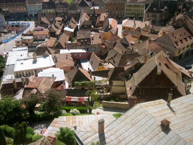 La ciudad Baja, desde el Mirador de la Torre del Reloj.