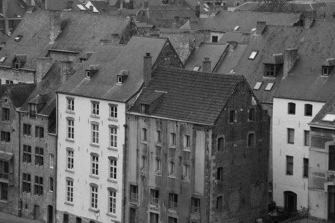 Namur en blanco y negro.