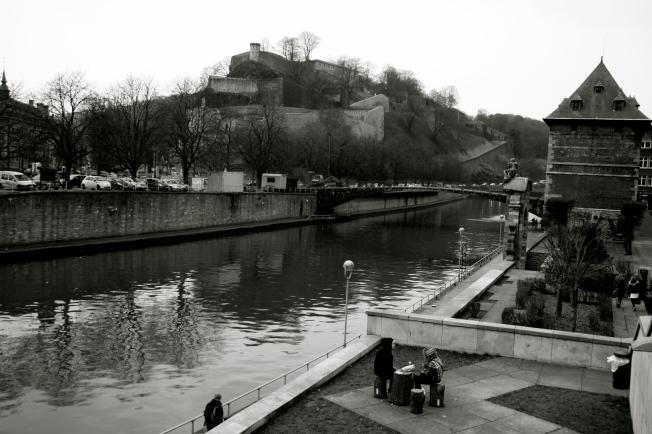 Namur en Blanco y Negro